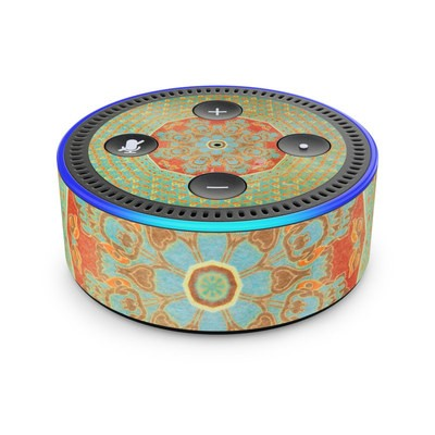 Amazon Echo Dot 2nd Gen Skin - Mandala Citrus
