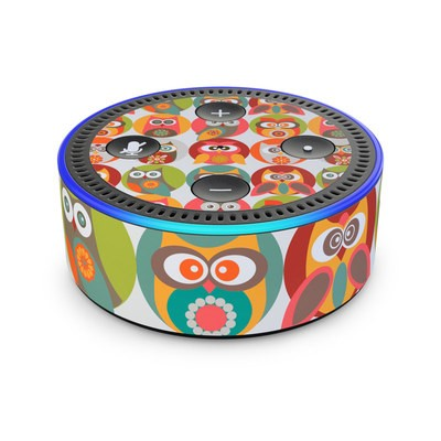 Amazon Echo Dot 2nd Gen Skin - Owls Family