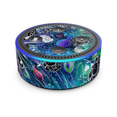 Amazon Echo Dot 2nd Gen Skin - Peacock Garden