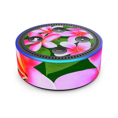 Amazon Echo Dot 2nd Gen Skin - Pink Plumerias