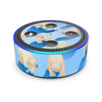 Amazon Echo Dot 2nd Gen Skin - Polar Bears
