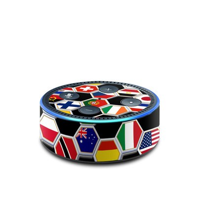 Amazon Echo Dot 2nd Gen Skin - Soccer Flags