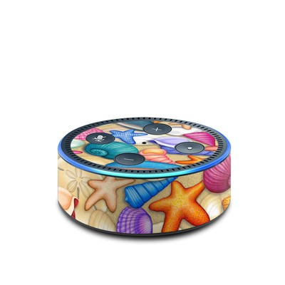 Skin Decal for Amazon Echo Dot 2 2nd generation // Starfish on the sand Beach