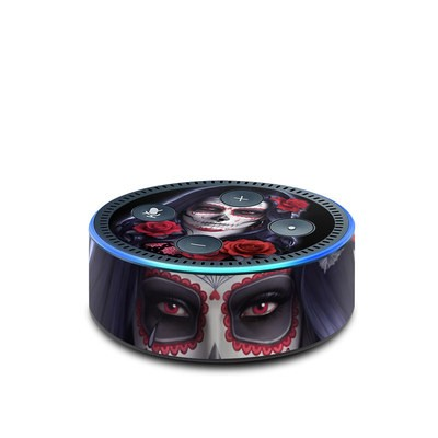 Amazon Echo Dot 2nd Gen Skin - Sugar Skull Rose