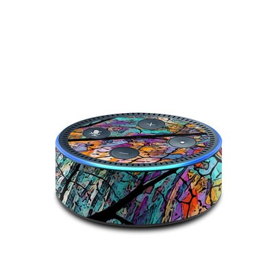 Amazon Echo Dot 2nd Gen Skin - Stained Aspen