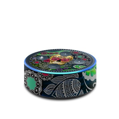 Amazon Echo Dot 2nd Gen Skin - Sugar Skull Paisley