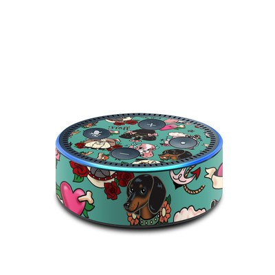 Amazon Echo Dot 2nd Gen Skin - Tattoo Dogs
