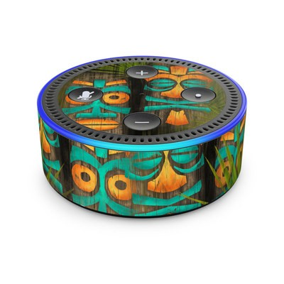 Amazon Echo Dot 2nd Gen Skin - Tiki Abu