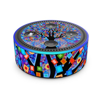 Amazon Echo Dot 2nd Gen Skin - Tree Carnival