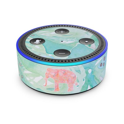Amazon Echo Dot 2nd Gen Skin - Tropical Elephant