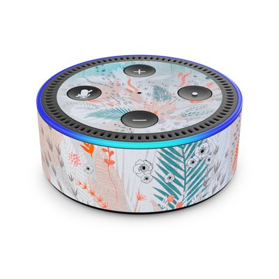 Amazon Echo Dot 2nd Gen Skin - Tropical Fern