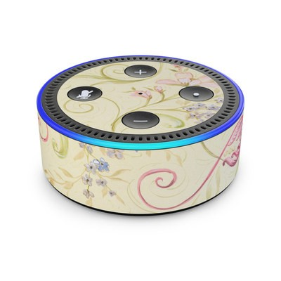 Amazon Echo Dot 2nd Gen Skin - Tulip Scroll