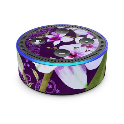 Amazon Echo Dot 2nd Gen Skin - Violet Worlds