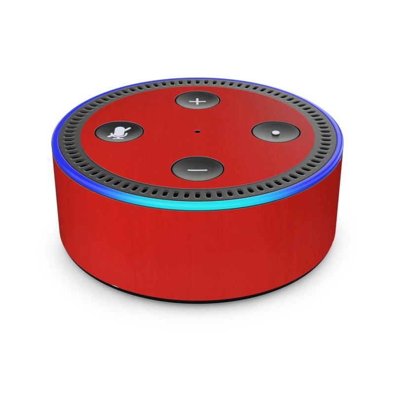 Amazon Echo Dot 2nd Gen Skin - Red Burst by DecalGirl Collective