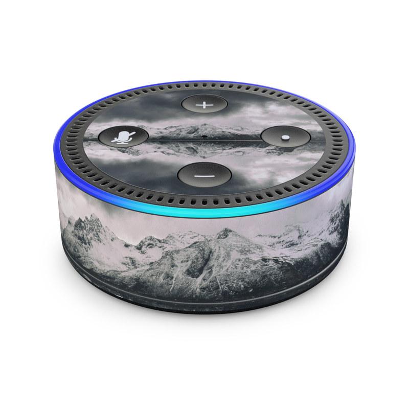 Skin Decal Vinyl Wrap for Amazon Echo Device Mountain Lake
