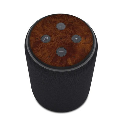 Amazon Echo Plus 2nd Gen Skin - Dark Burlwood