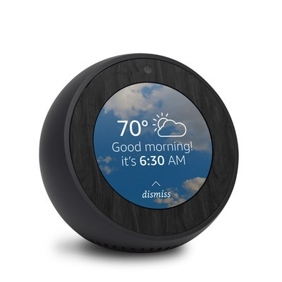 Amazon Echo Spot Skin - Black Woodgrain