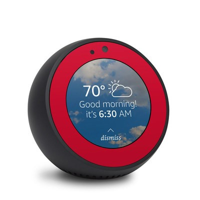 Amazon Echo Spot Skin - Solid State Red