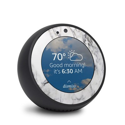 Amazon Echo Spot Skin - White Marble