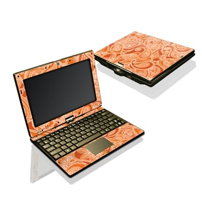 Asus Eee Touch T101 Skin - Paisley In Orange