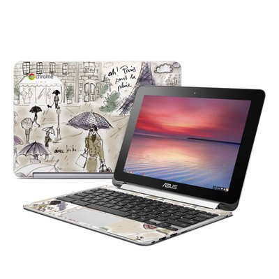 Asus Flip Chromebook Skin - Ah Paris