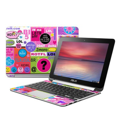 Asus Flip Chromebook Skin - BFF Girl Talk