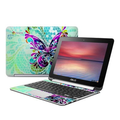 Asus Flip Chromebook Skin - Butterfly Glass