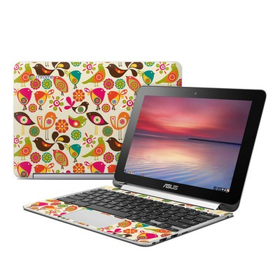 Asus Flip Chromebook Skin - Bird Flowers