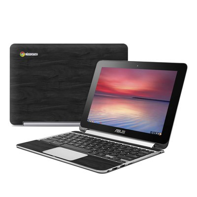 Asus Flip Chromebook Skin - Black Woodgrain
