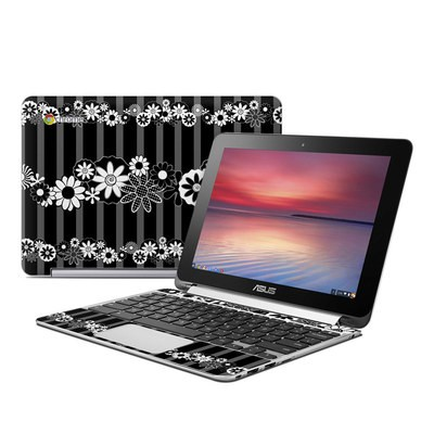 Asus Flip Chromebook Skin - Black Retro