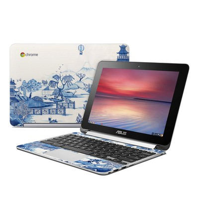 Asus Flip Chromebook Skin - Blue Willow