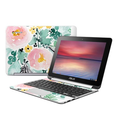 Asus Flip Chromebook Skin - Blushed Flowers