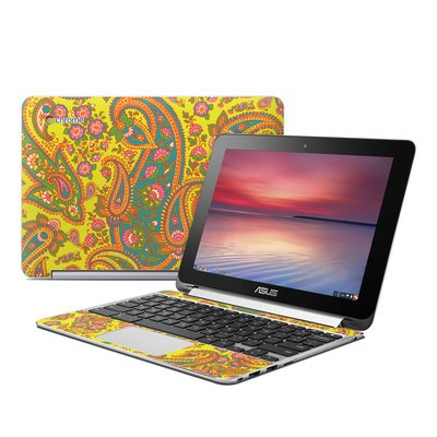 Asus Flip Chromebook Skin - Bombay Chartreuse