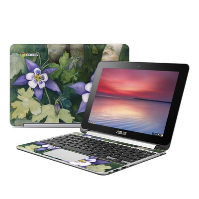 Asus Flip Chromebook Skin - Colorado Columbines