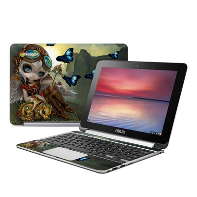 Asus Flip Chromebook Skin - Clockwork Dragonling