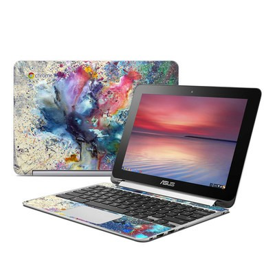 Asus Flip Chromebook Skin - Cosmic Flower