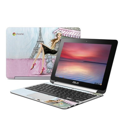 Asus Flip Chromebook Skin - Cafe Paris