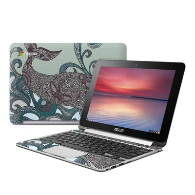 Asus Flip Chromebook Skin - Deep Blue Me