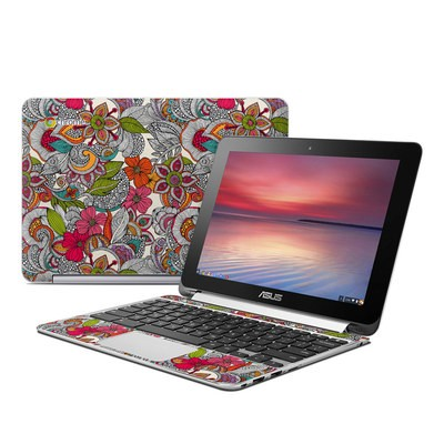 Asus Flip Chromebook Skin - Doodles Color