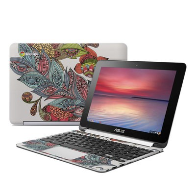 Asus Flip Chromebook Skin - Feather Flower