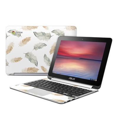 Asus Flip Chromebook Skin - Feathers