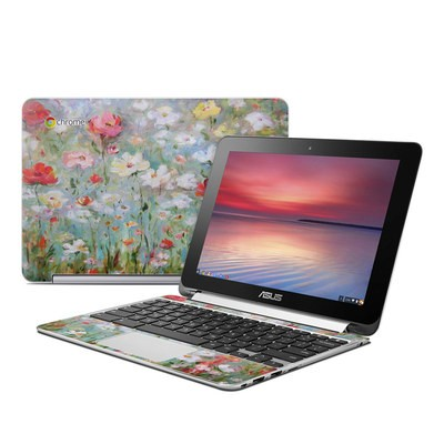 Asus Flip Chromebook Skin - Flower Blooms