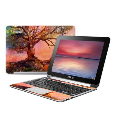 Asus Flip Chromebook Skin - Fox Sunset