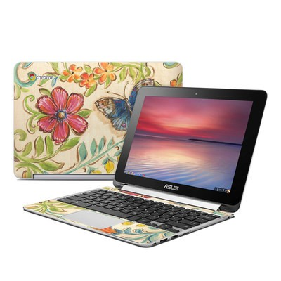 Asus Flip Chromebook Skin - Garden Scroll