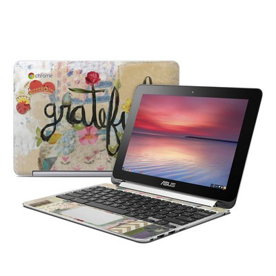 Asus Flip Chromebook Skin - Grateful