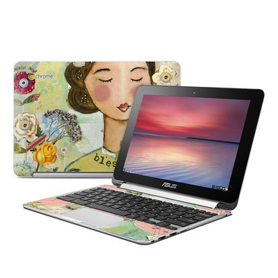 Asus Flip Chromebook Skin - Grateful Soul