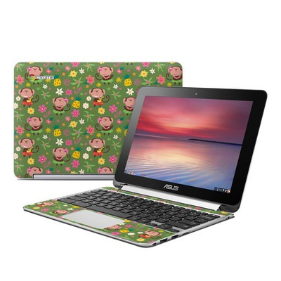 Asus Flip Chromebook Skin - Hula Monkeys