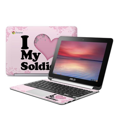 Asus Flip Chromebook Skin - I Love My Soldier