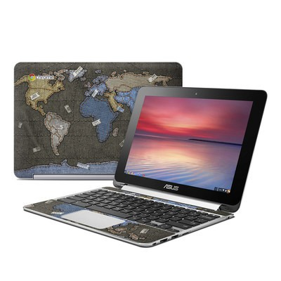 Asus Flip Chromebook Skin - Jean Map