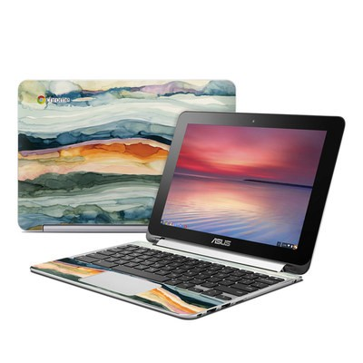 Asus Flip Chromebook Skin - Layered Earth